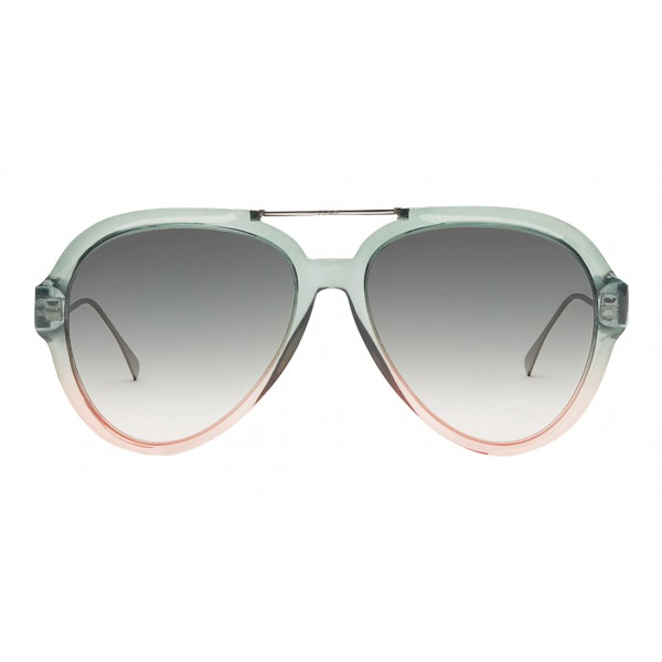 Fendi - Tropical Shine - Occhiali da Sole Aviator Verdi e Rosa - Occhiali da Sole - Fendi Eyewear