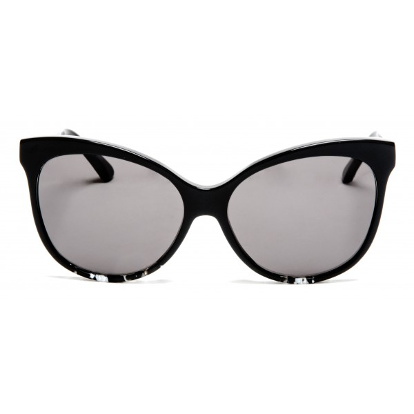 011 Eyewear - Iris - B1 - Black Acetate Cat Eye Framed Sunglasses - Sunglasses - 011 Eyewear