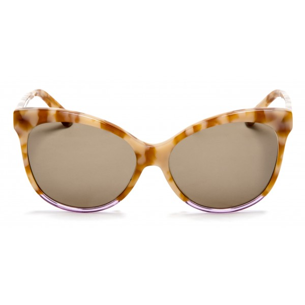 011 Eyewear - Iris - C1 - Havana Acetate Cat Eye Framed Sunglasses - Sunglasses - 011 Eyewear