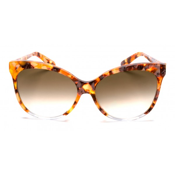 011 Eyewear - Iris - D1 - Occhiali da Sole Cat Eye in Acetato Nero - Occhiali da Sole - 011 Eyewear