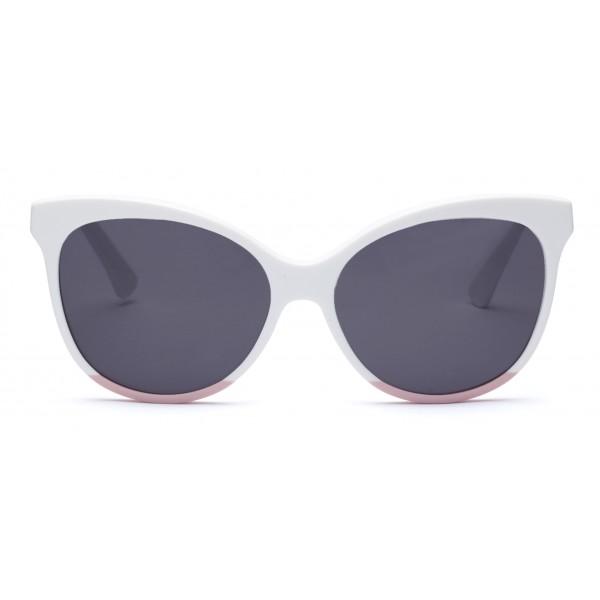 011 Eyewear - Iris - E1 - Occhiali da Sole Cat Eye in Acetato Bianco - Occhiali da Sole - 011 Eyewear