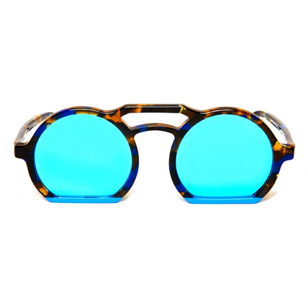 011 Eyewear - Groove X Tipic - A02 - Havana Acetate Round Framed Sunglasses - Sunglasses - 011 Eyewear
