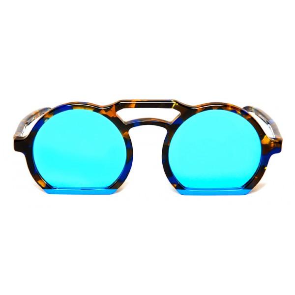 011 Eyewear - Groove X Tipic - A02 - Occhiali da Sole Rotondi in Acetato Havana - Occhiali da Sole - 011 Eyewear