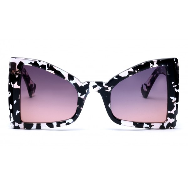 011 Eyewear - Lullaby - 02 - Occhiali da Sole Cat Eye in Acetato Havana - Occhiali da Sole - 011 Eyewear