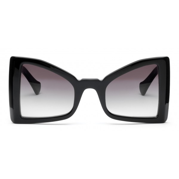 011 Eyewear - Lullaby - 04 - Black Acetate Cat Eye Framed Sunglasses - Sunglasses - 011 Eyewear