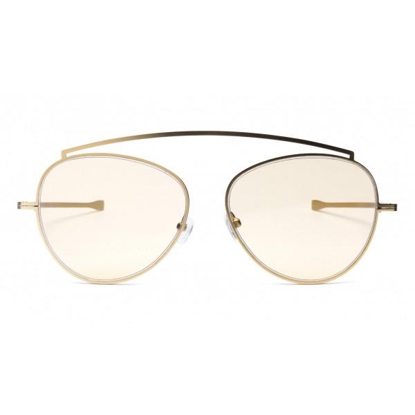 011 Eyewear - Soul - 01 - Occhiali da Sole Rotondi in Metallo Rosa - Occhiali da Sole - 011 Eyewear
