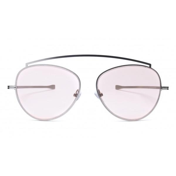 011 Eyewear - Soul - 03 - Occhiali da Sole Rotondi in Metallo Viola - Occhiali da Sole - 011 Eyewear