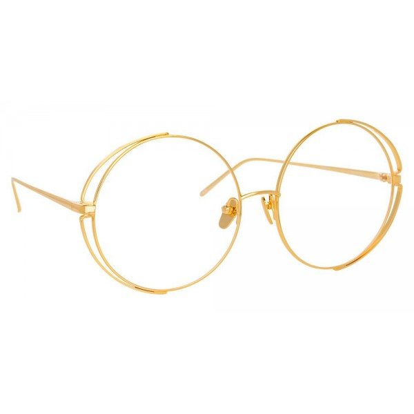 Linda Farrow - 816 C9 Round Optical Frames - Yellow Gold - Linda Farrow Eyewear