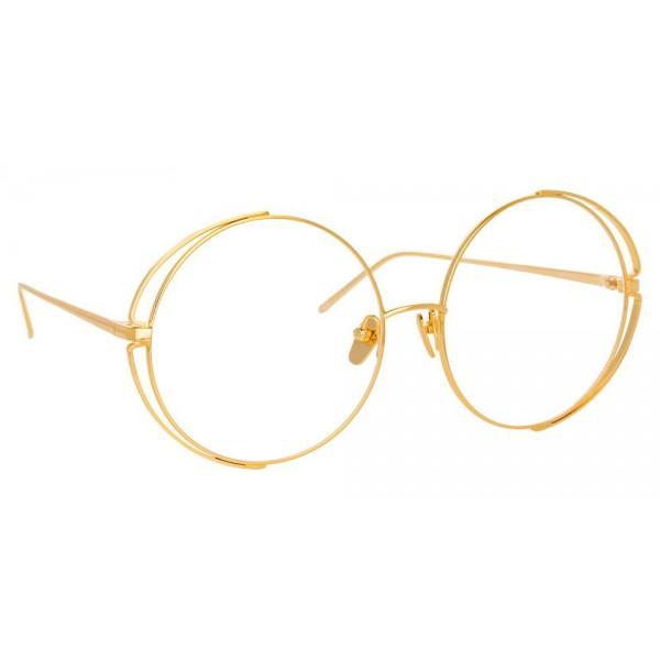 Linda Farrow - Occhiali da Vista Rotondi 816 C9 - Oro Giallo - Linda Farrow Eyewear