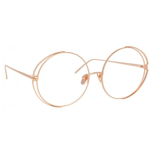 Linda Farrow - Occhiali da Vista Rotondi 816 C11 - Oro Rosa - Linda Farrow Eyewear