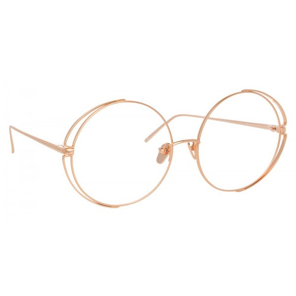 Linda Farrow 816 C11 Round Optical Frames Rose Gold