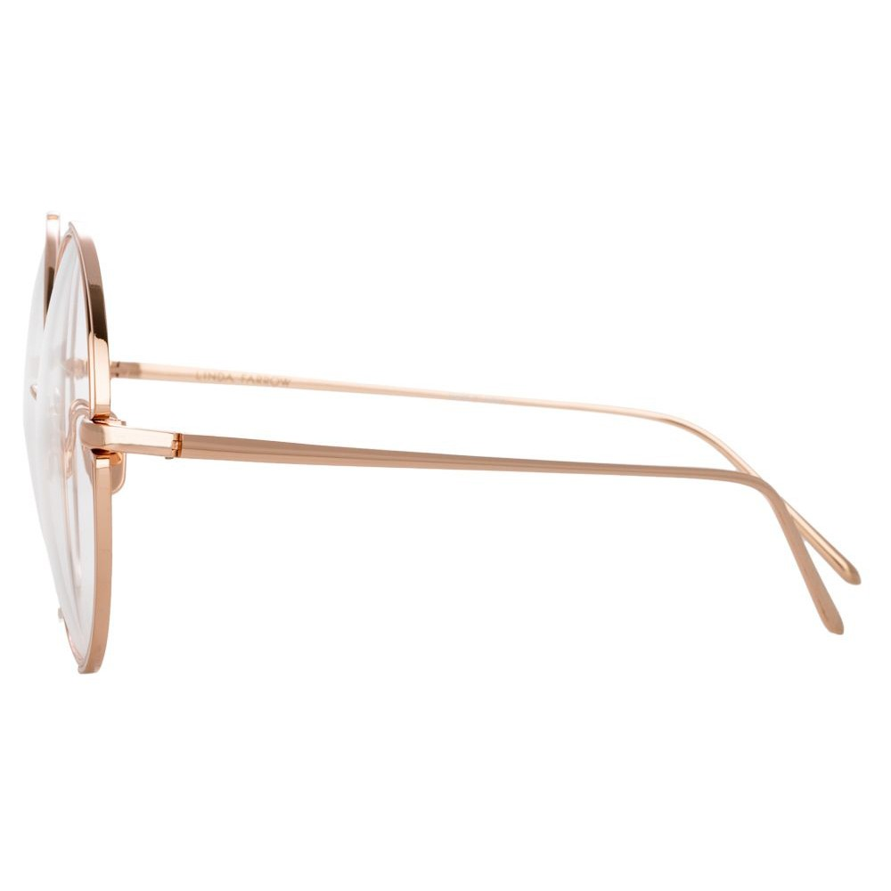 f66473f850 ... Linda Farrow - 816 C11 Round Optical Frames - Rose Gold - Linda Farrow  Eyewear ...