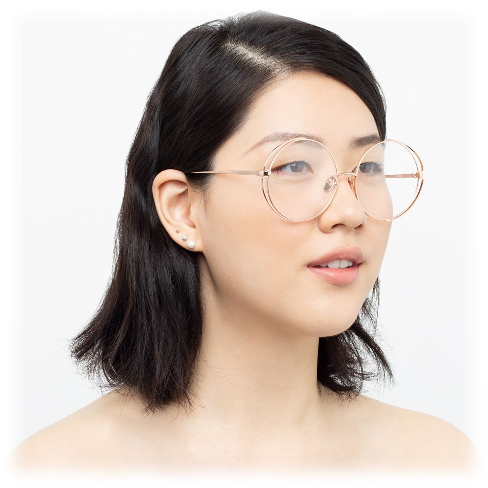 1a94321a83 ... Linda Farrow - 816 C11 Round Optical Frames - Rose Gold - Linda Farrow  Eyewear