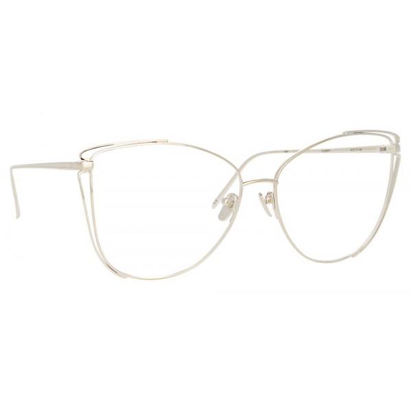 Linda Farrow - Occhiali da Vista Cat Eye 809 C9 - Oro Bianco - Linda Farrow Eyewear
