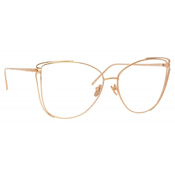 Linda Farrow - 809 C10 Cat Eye Optical Frames - Rose Gold - Linda Farrow Eyewear