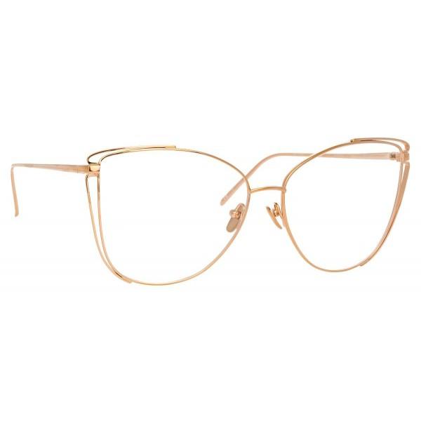 Linda Farrow - Occhiali da Vista Cat Eye 809 C10 - Oro Rosa - Linda Farrow Eyewear