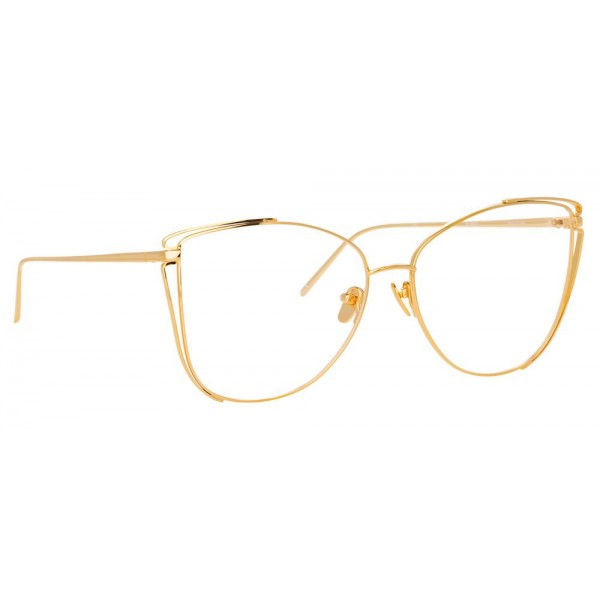 Linda Farrow - 809 C8 Cat Eye Optical Frames - Yellow Gold - Linda Farrow Eyewear
