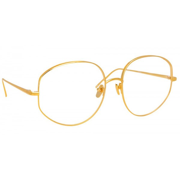 Linda Farrow - Occhiali da Vista Rotondi 750 C1 - Oro Giallo - Linda Farrow Eyewear
