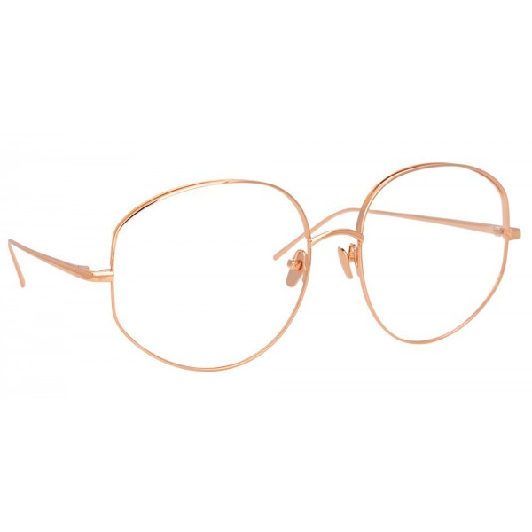 Linda Farrow - 750 C3 Round Optical Frames - Rose Gold - Linda Farrow Eyewear