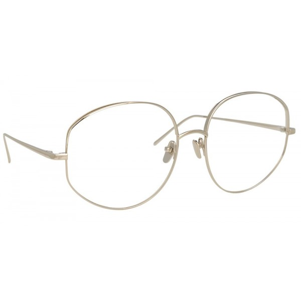 Linda Farrow - Occhiali da Vista Rotondi 750 C2 - Oro Bianco - Linda Farrow Eyewear