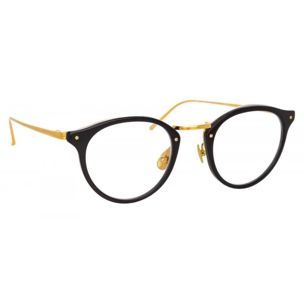 Linda Farrow - 808 C1 Oval Optical Frames - Black - Linda Farrow Eyewear