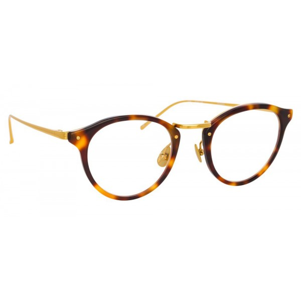 Linda Farrow - 808 C2 Oval Optical Frames - Tortoise - Linda Farrow Eyewear