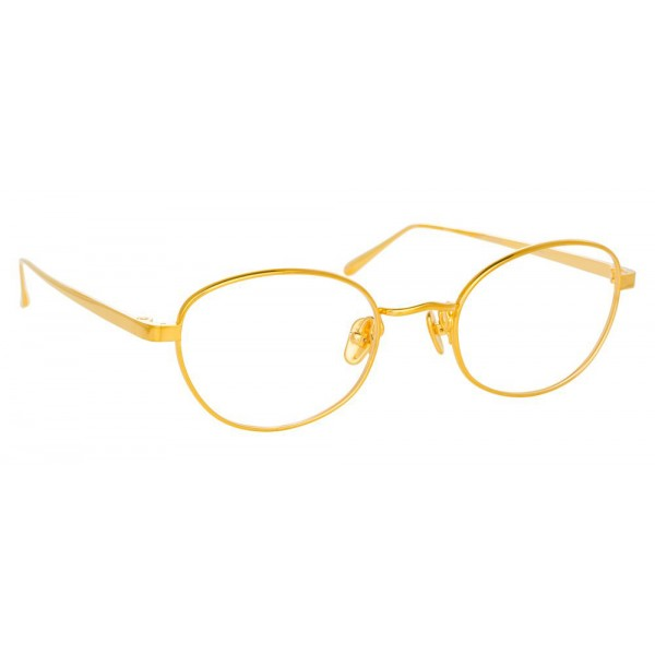 Linda Farrow - 796 C1 Cat Eye Optical Frames - Yellow Gold - Linda Farrow Eyewear
