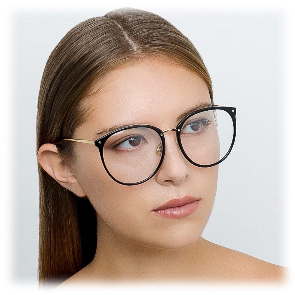 25421d54fb ... Linda Farrow - 747 C7 Oversized Optical Frames - Black - Linda Farrow  Eyewear ...