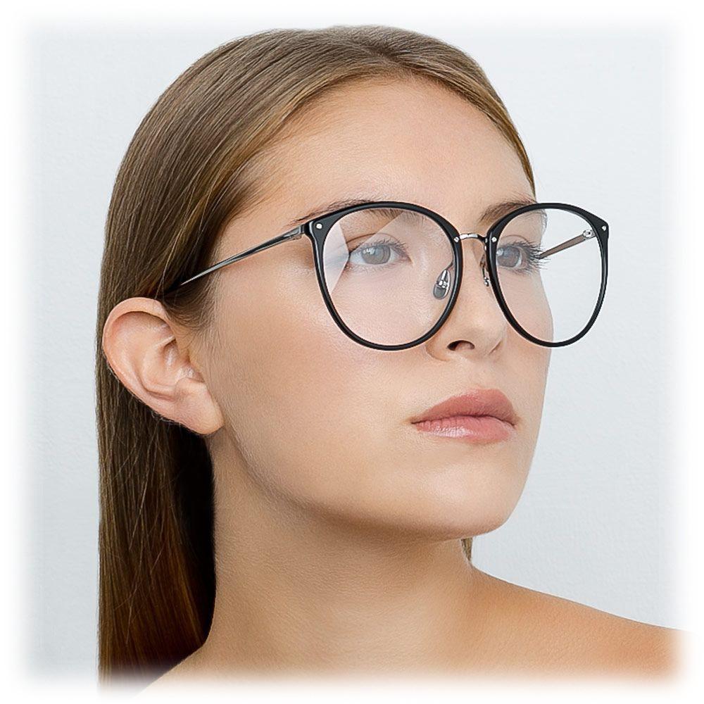 5607027579 ... Linda Farrow - 747 C8 Oversized Optical Frames - Black - Linda Farrow  Eyewear