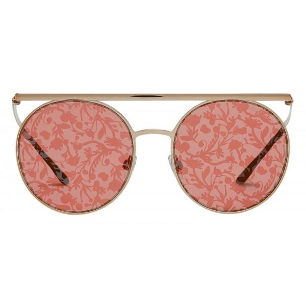 Giorgio Armani - Catwalk - Occhiali Da Sole Catwalk con Lenti Floreali - Oro - Occhiali da Sole - Giorgio Armani Eyewear