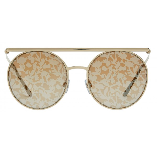 Giorgio Armani - Catwalk - Catwalk Sunglasses with Floral Lenses - Gold Yellow - Sunglasses - Giorgio Armani Eyewear