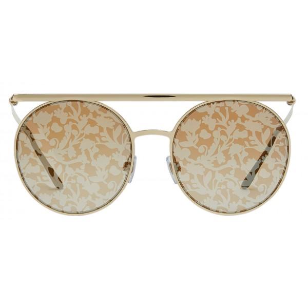 Giorgio Armani - Catwalk - Occhiali da Sole Catwalk con Lenti Floreali - Oro Giallo - Occhiali da Sole - Giorgio Armani Eyewear