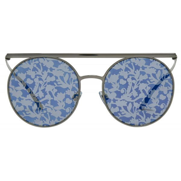 Giorgio Armani - Catwalk - Catwalk Sunglasses with Floral Lenses - Grey - Sunglasses - Giorgio Armani Eyewear