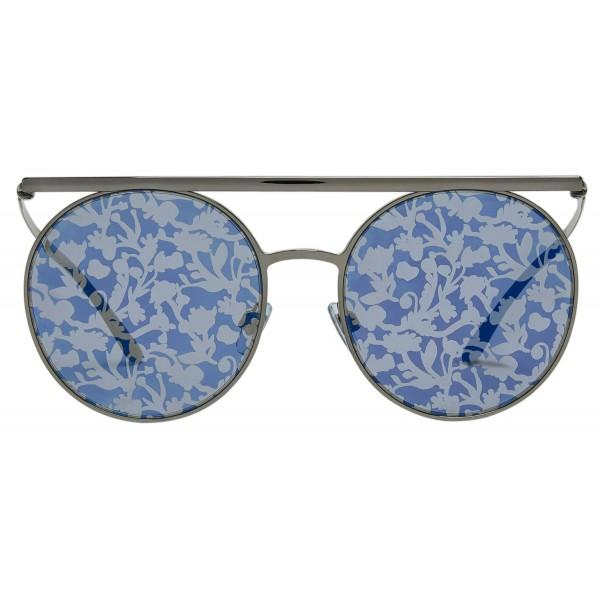 Giorgio Armani - Catwalk - Occhiali da Sole Catwalk con Lenti Floreali - Grigio - Occhiali da Sole - Giorgio Armani Eyewear