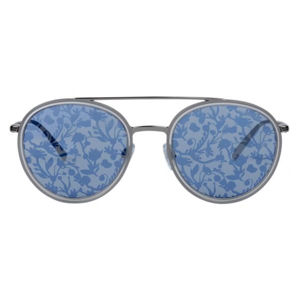 Giorgio Armani - Floral - Sunglasses with Floral Print Lenses - Blue - Sunglasses - Giorgio Armani Eyewear