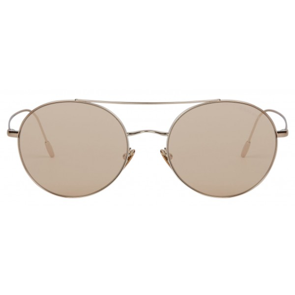 Giorgio Armani - Montatura Tonda - Occhiali da Sole Rotondi in Metallo - Marrone - Occhiali da Sole - Giorgio Armani Eyewear