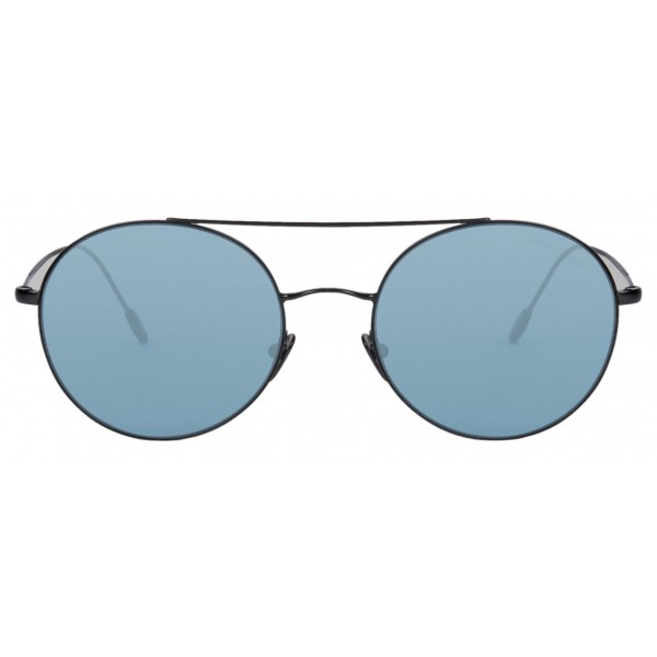 Giorgio Armani - Montatura Tonda - Occhiali da Sole Rotondi in Metallo - Blu - Occhiali da Sole - Giorgio Armani Eyewear