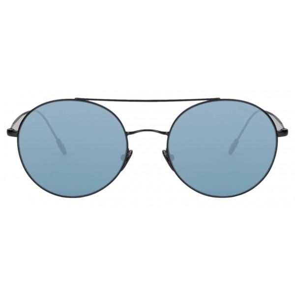 Giorgio Armani - Round Frame - Metal Round Frame Sunglasses - Blue - Sunglasses - Giorgio Armani Eyewear