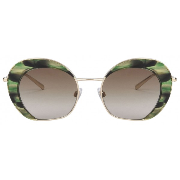 Giorgio Armani - Retrò - Metal Sunglasses with Gradient Lenses - Green - Sunglasses - Giorgio Armani Eyewear