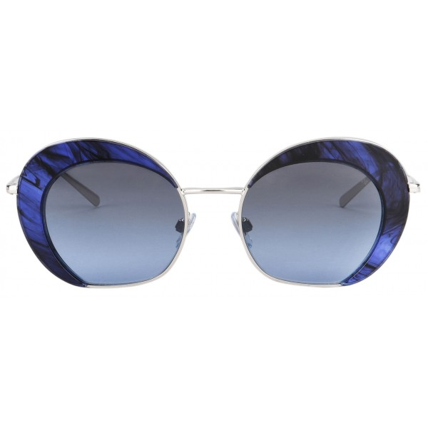 Giorgio Armani - Retrò - Metal Sunglasses with Degradè Lenses - Blue - Sunglasses - Giorgio Armani Eyewear