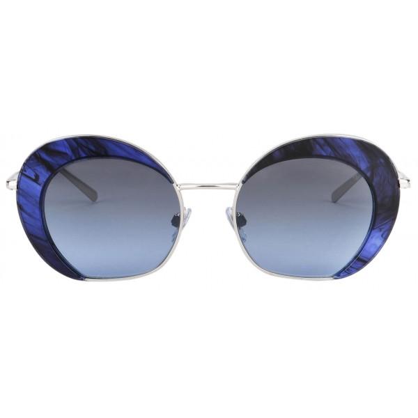 Giorgio Armani - Retrò - Occhiali da Sole in Metallo con Lenti Degradè - Blu - Occhiali da Sole - Giorgio Armani Eyewear