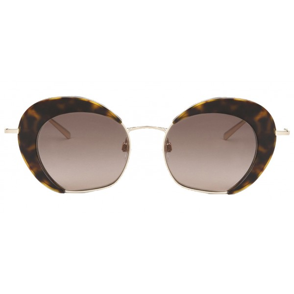 Giorgio Armani - Retrò - Metal Sunglasses with Animalier Lenses - Brown - Sunglasses - Giorgio Armani Eyewear