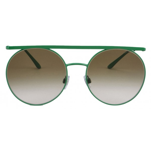 Giorgio Armani - Double Bridge - Metal Sunglasses with Gradient Lenses - Green - Sunglasses - Giorgio Armani Eyewear