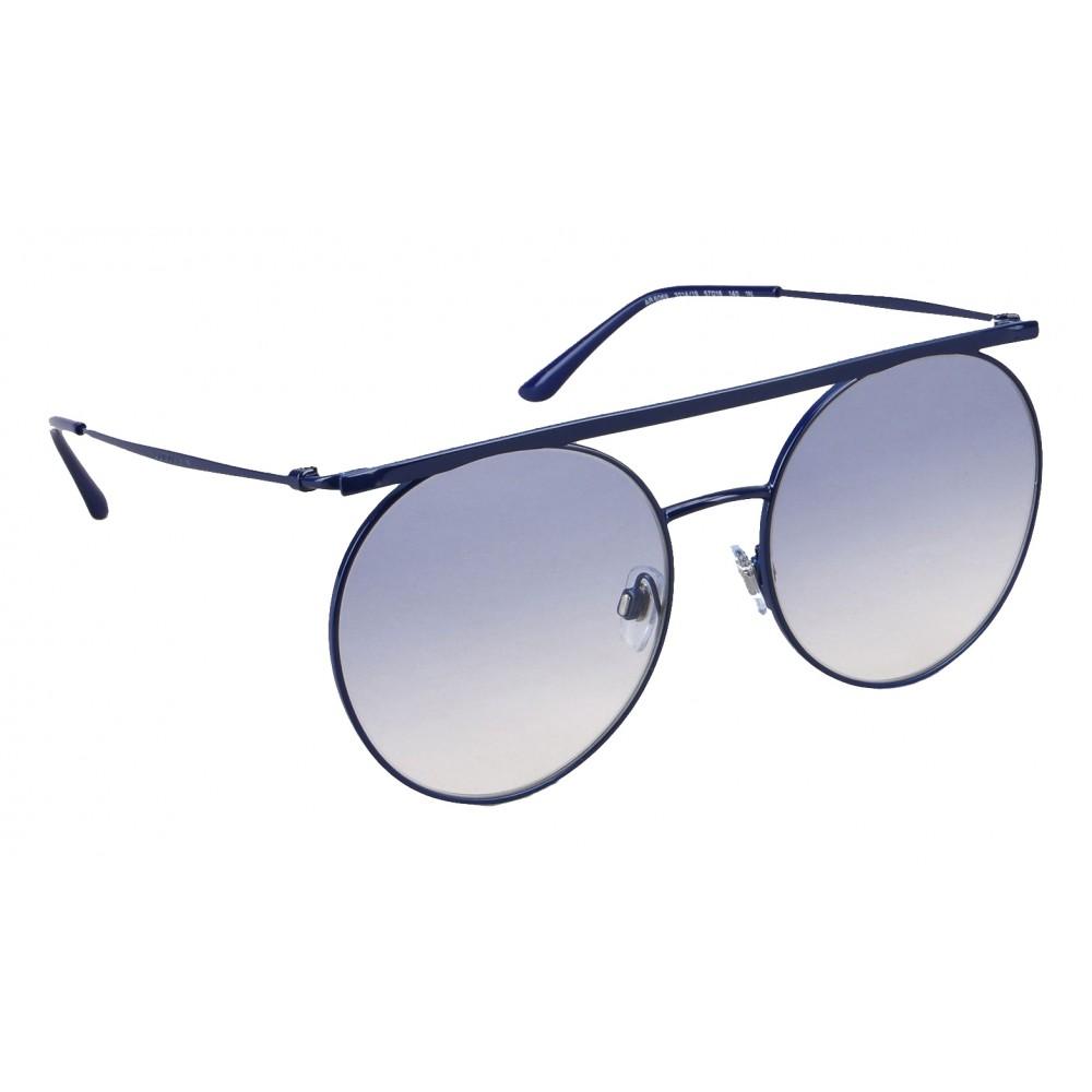 32f2f1fe62c ... Giorgio Armani - Double Bridge - Metal Sunglasses with Gradient Lenses  - Blue - Sunglasses ...