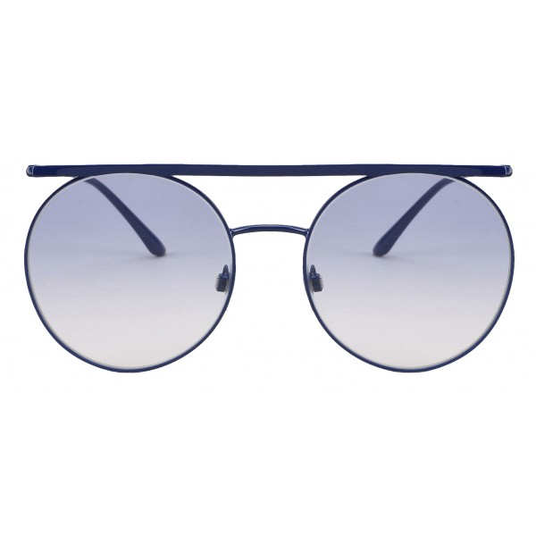 Giorgio Armani - Double Bridge - Metal Sunglasses with Gradient Lenses - Blue - Sunglasses - Giorgio Armani Eyewear