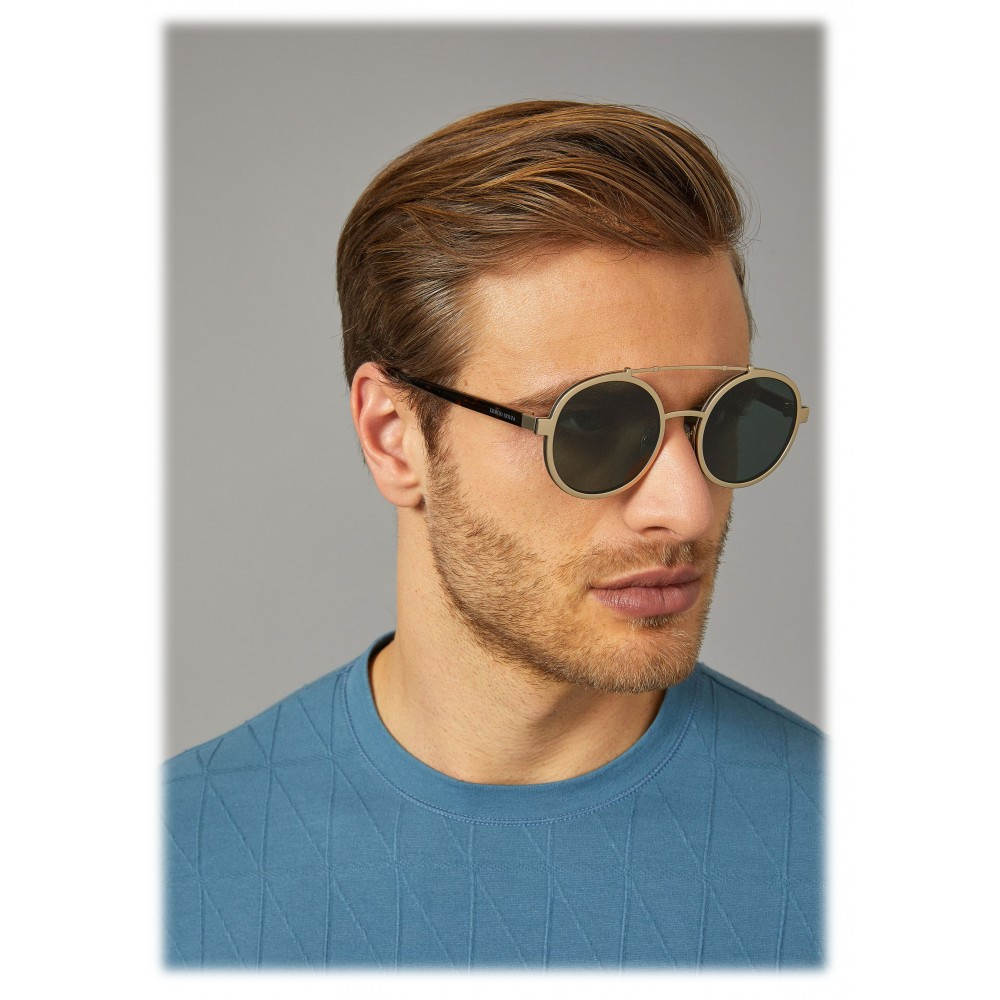 f3a0a73909b8 ... Giorgio Armani - Catwalk - Catwalk Sunglasses with Round Lenses - Gold  - Sunglasses - Giorgio