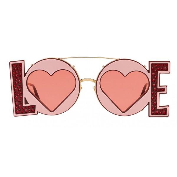 Dolce & Gabbana - Occhiale da Sole in Metallo Dorato - Oro - Love - Occhiali da Sole - Dolce & Gabbana Eyewear
