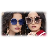 Dolce & Gabbana - Sunglasses in Gold Metal - Gold - Jewel - Sunglasses - Dolce & Gabbana Eyewear