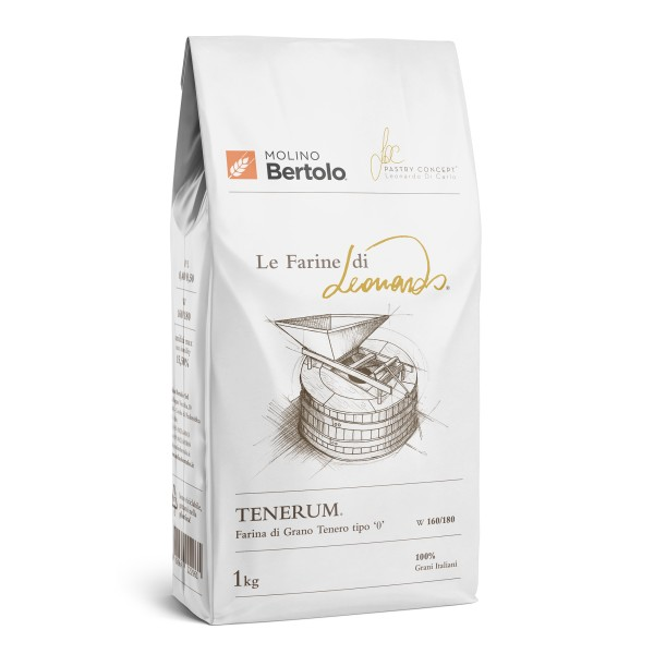 Molino Bertolo - Tenerum® - The Flours of Leonardo® - Flour Type 0 of Italian Soft Grain - 1 Kg