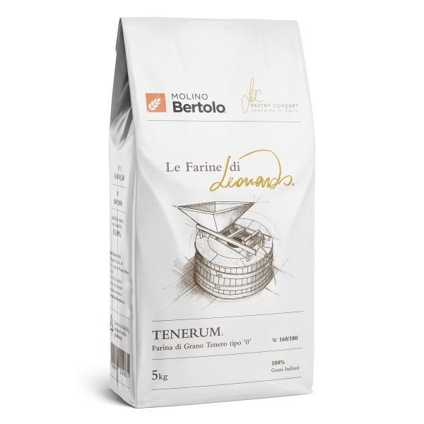 Molino Bertolo - Tenerum® - Le Farine di Leonardo® - Farina Tipo 0 di Grano Tenero Italiano - 5 Kg